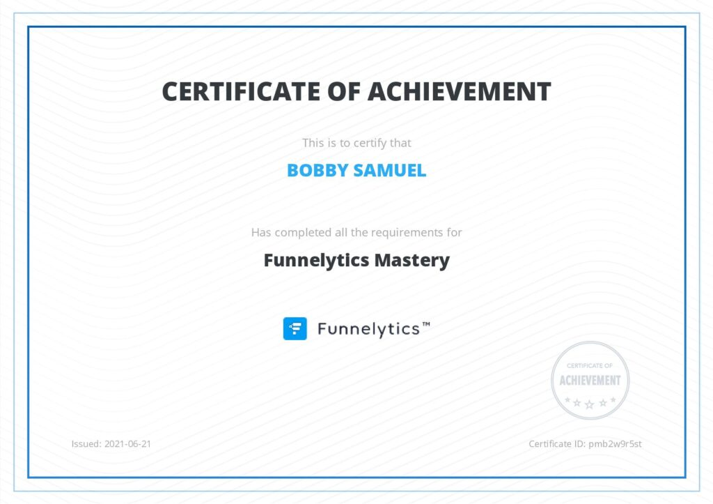 Funnel Mastery Certification