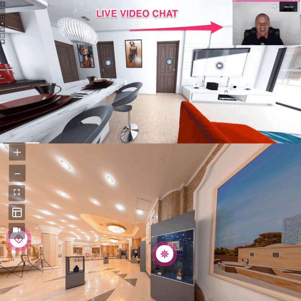 Virtual Tours + ZOOM Like Live Video Calls